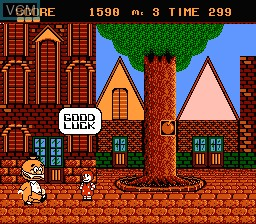 In-game screen of the game Donald Land on Nintendo NES