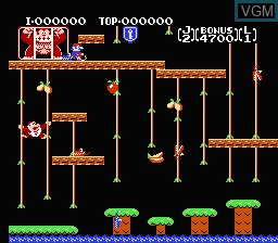In-game screen of the game Donkey Kong Classics on Nintendo NES
