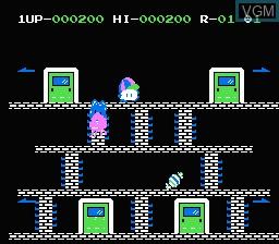 In-game screen of the game Door Door on Nintendo NES
