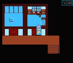 In-game screen of the game Doraemon - Giga Zombie no Gyakushuu on Nintendo NES