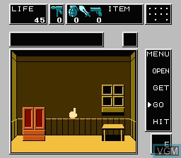 In-game screen of the game Dr. Chaos on Nintendo NES