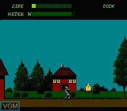 In-game screen of the game Dr. Jekyll and Mr. Hyde on Nintendo NES
