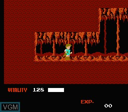 In-game screen of the game Dragon Buster on Nintendo NES