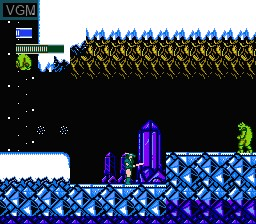 In-game screen of the game Dragon Fighter on Nintendo NES