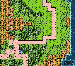 In-game screen of the game Kagerou Densetsu on Nintendo NES