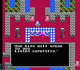 In-game screen of the game Dragon Warrior IV on Nintendo NES