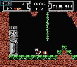 In-game screen of the game Duck Tales on Nintendo NES