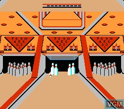 In-game screen of the game Dynamite Bowl on Nintendo NES