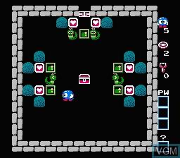 In-game screen of the game Egger Land - Meikyuu no Fukkatsu on Nintendo NES