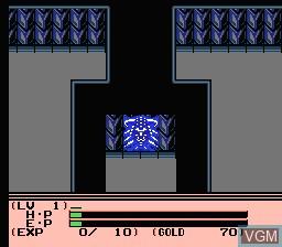 In-game screen of the game Esper Dream 2 - Aratanaru Tatakai on Nintendo NES