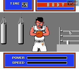 In-game screen of the game Exciting Boxing on Nintendo NES