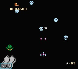 In-game screen of the game Exed Exes on Nintendo NES