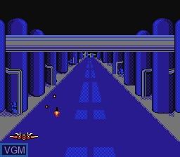 In-game screen of the game F-15 City War on Nintendo NES