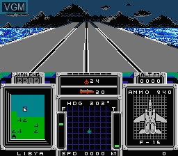 In-game screen of the game F-15 Strike Eagle on Nintendo NES