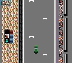 In-game screen of the game F1 Circus on Nintendo NES