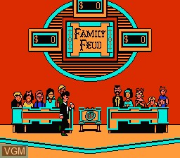 In-game screen of the game Family Feud on Nintendo NES