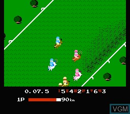 In-game screen of the game Family Jockey on Nintendo NES