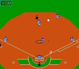 In-game screen of the game Famista '89 - Kaimaku Han!! on Nintendo NES