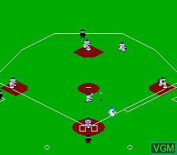 In-game screen of the game Famista '90 on Nintendo NES