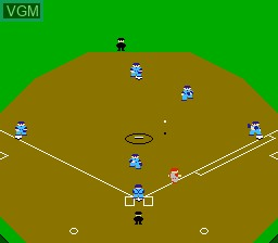 In-game screen of the game Famista '91 on Nintendo NES
