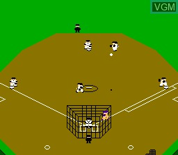 In-game screen of the game Famista '92 on Nintendo NES