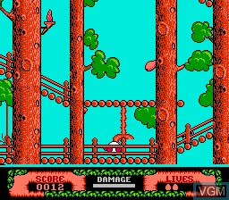 In-game screen of the game Dizzy The Adventurer on Nintendo NES