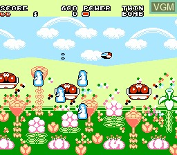 In-game screen of the game Fantasy Zone 2 - The Teardrop of Opa-Opa on Nintendo NES