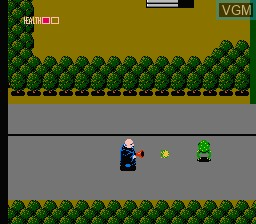 In-game screen of the game Fester's Quest on Nintendo NES