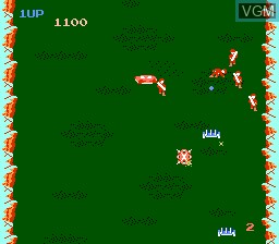In-game screen of the game Field Combat on Nintendo NES