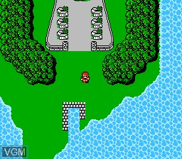 In-game screen of the game Final Fantasy on Nintendo NES