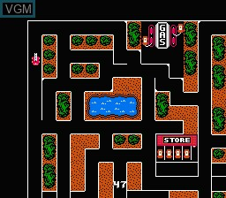 In-game screen of the game Firehouse Rescue on Nintendo NES