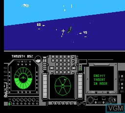 In-game screen of the game Flight of the Intruder on Nintendo NES