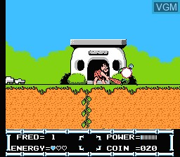 In-game screen of the game Flintstones, The - The Rescue of Dino & Hoppy on Nintendo NES
