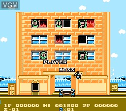In-game screen of the game Flying Hero on Nintendo NES