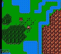 In-game screen of the game Fong Shen Bang - Zhu Lu Zhi Zhan on Nintendo NES