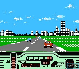 In-game screen of the game Formula One - Built To Win on Nintendo NES
