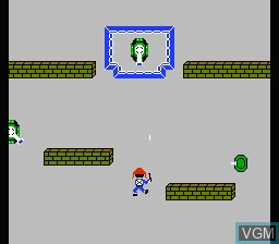 In-game screen of the game Front Line on Nintendo NES