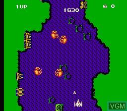 In-game screen of the game Zunou Senkan Galg on Nintendo NES