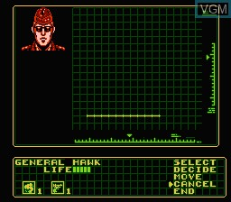 In-game screen of the game G.I. Joe - The Atlantis Factor on Nintendo NES