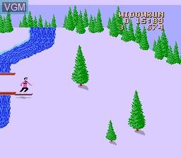 In-game screen of the game Heavy Shreddin' on Nintendo NES