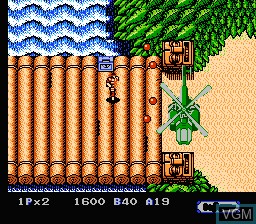 In-game screen of the game Heavy Barrel on Nintendo NES