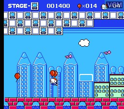 In-game screen of the game Hello Kitty World on Nintendo NES