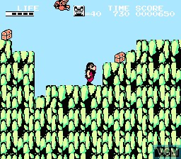 In-game screen of the game Hi no Tori - Houou Hen - Gaou no Bouken on Nintendo NES