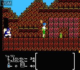 In-game screen of the game Hiryuu no Ken II - Dragon no Tsubasa on Nintendo NES