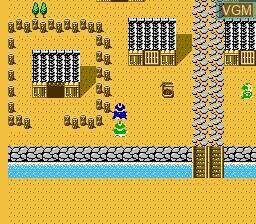 In-game screen of the game Hissatsu Shigoto Nin on Nintendo NES