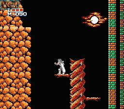 In-game screen of the game Holy Diver on Nintendo NES