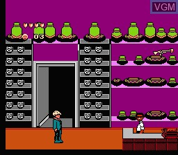 In-game screen of the game Home Alone 2 - Lost in New York on Nintendo NES