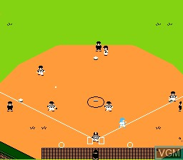 In-game screen of the game Home Run Nighter '90 - The Pennant League on Nintendo NES