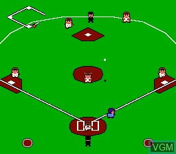 In-game screen of the game Home Run Nighter - Pennant League!! on Nintendo NES