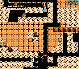 In-game screen of the game Hottaaman no Chitei Tanken on Nintendo NES